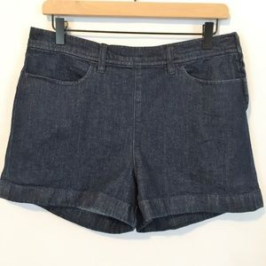 J. Crew Side-Zip High Waisted Denim Shorts